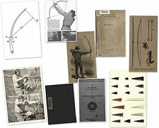 HOW TO BUILD PLANS YEW SELF BOW STRING QUIVER RELEASE STAVE BOOK COLLECTION