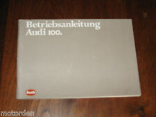 Audi 100 Betriebsanleitung, 1982 German language hand book in exc cond FREE POST