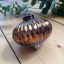 Oscuro Cobre Mercury Cristal Onion Bola,árbol de Navidad Decoración