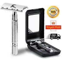 Safety Razor DE  Stainless Steel + Free double edge shaving blades shaver