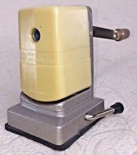 Vintage Pencil Sharpener HUNT VACUUMETTE VTG Table Desk Suction Metal Hand Crank