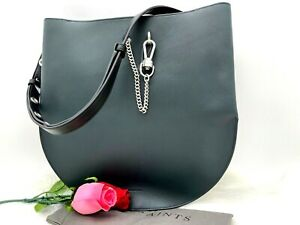 AUTH NWT $349 ALLSAINTS Women's Beaumont Smooth Leather Hobo In Dark Green