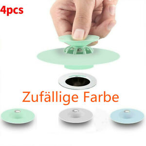 4 Stücke Silikon Badewannenstöpsel Küche Waschbecken Ablauf Stopfen Spülbecken