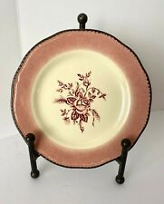 Wood & Sons Fine Tableware: Pink Colonial Rose Accent Salad Plate Lot of 4 A+