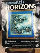 "Needlepoint Kit Monarch Horizons The Chickadees T1333 14"" x 14"" Reinardy J02"