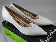 Sam Edelman Women's Dori Pump, Bright White Leather, 6 M US