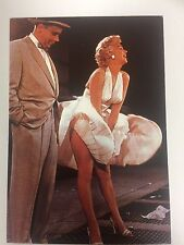 80s Postcard - Marilyn Monroe 1954 7 Year Itch Colour skirt scene with Tom Ewell