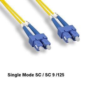 Kentek 10m SC/SC Single-Mode Fiber Optic Cable 9/125 Duplex UPC Ethernet Network