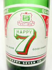 vintage ACL Soda POP  Bottle:  HAPPY 7 of WILKES BARRE, PA-QUART/ non-LITHIATED