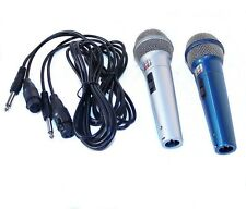 2 Mikrofone + 3m XLR kabel auf 6,3mm Adapter Mikrofon Microphone (SY228)