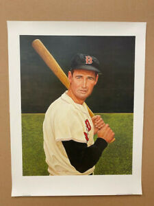 Ted Williams lithograph by Armand Lamontagne. Size 19 x 25 inches.