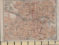 1925 GERMAN MAP NURNBERG CITY PLAN ENVIRONS PUBLIC BUILDINGS OBSERVATORY CHURCHS