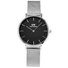 BRAND NEW Daniel Wellington DW00100162 Silver Petite Sterling Black Watch 32mm
