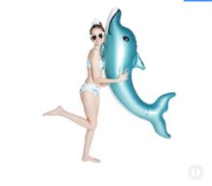 "Jumbo 68"" Inflatable Dolphin Ride-On Pool Float - Great Summer Fun - NIB 🆓📬"
