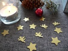 Streudeko Weihnachten Sterne & Engel gold Tischdeko Weihnachtsdeko basteln