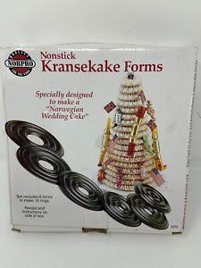 Norpro Kransekake Forms - Norwegian Wedding Cake Forms Nonstick