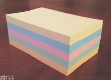 "Refill Note Paper  - Loose Rectangular Sheets - 4 x 6 "" ( 5 Different Colors )"
