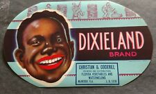 Dixieland Brand Florida Watermelon Crate Label Christian & Cockrill McIntosh,Fl.