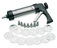 Stainless Steel Cookie Press & Icing Gun Set Baking Gift Fun Kitchen Bake Press