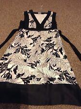 Oasis ladies black and white silk dress size 10