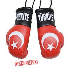 CAR Boxing Gloves Hanging TURKIYE Decoration Flag Mirror Office Accessory Turkey