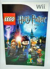 LEGO Harry Potter Years 1-4 - Nintendo Wii - French Instruction Manual