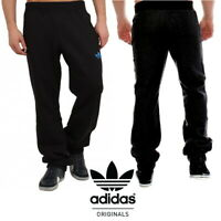 Adidas Men's SPO Sweatpants Fleece Tracksuit Trousers Black Bottoms RRP £50!!
