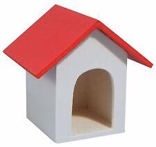 1:12 scala in legno DOLLS HOUSE miniatura RED Roof Dog Kennel Giardino Accessorio