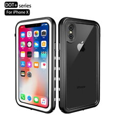 For iPhone XS Max XR Waterproof Clear Hybrid Hard PC Back Full Cover Phone Case