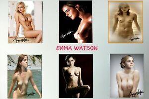 6 PHOTOS IDENTITE  EMMA WATSON 3 X 4 CM SUR PLANCHE