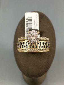 Gr.56 NEUHEIT Twinring Damenring Goldring 585 14K Gold Echtgold Neu