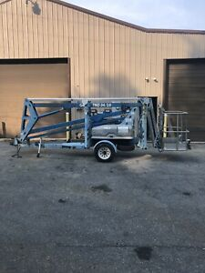 GENIE TMZ34/19 34' TOWABLE TOW BEHIND ELECTRIC ARTICULATING BOOM MAN LIFT