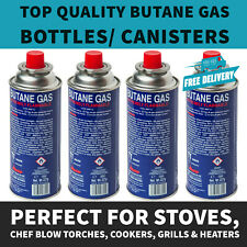 4 x BUTANE GAS BOTTLES CANISTERS FOR PORTABLES STOVES COOKERS GRILL HEATERS WEED