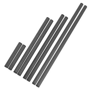 For Dia 15mm Rod Carbon Fiber Tube Rod Follow Focus Camera Cage Rail System 2Pcs