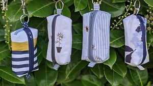 Joules Zipped Pouch, keyring. Dog Poo bag dispenser Pocket Tissues Card Holder