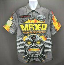 Monster Jam Max-D Monster Truck Driver Pit Crew Shirt Men's Sz M Tom Meents