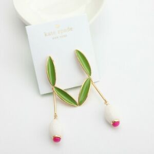 KATE SPADE NEW YORK Best Buds Linear Earrings White Multi