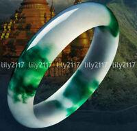 green Chinese jade bangle grade A jadeite gemstone bangle Asian jewelry 1782 56mm