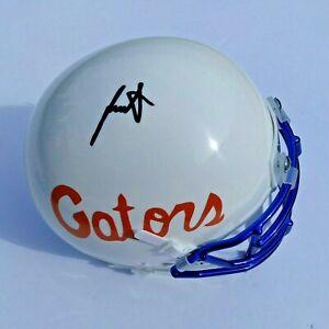 JUSTIN SHORTER Florida Gators SIGNED Mini Helmet Blue Chrome Facemask