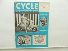 Feb 1959 Cycle Magazine Scrambles British Scooter Triumph TR6 Big Bear L8763