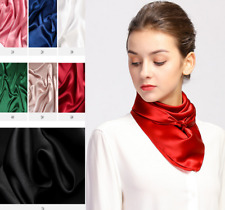 "25"" middle Square 100% Silk Scarf Women Neckerchief Wrap solid color red S305"