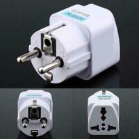 Portable UK US AU to EU European Power Socket Plug Adapter Travel Converter Y5L5