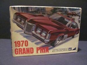 MPC 1970 Pontiac Grand Prix 1/25 Scale Model Kit, Sealed Inside, N Mint Contents