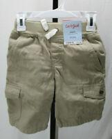 Cat & Jack Boy's Cargo Shorts Beige Flexible Drawstring Asst. Sizes New