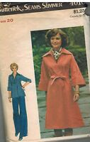 4010 Vintage Butterick Sewing Pattern Misses Dress Tunic Pants Belt Seam Slimmer