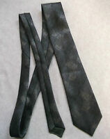 Vintage SILK Tie MENS Necktie Retro SILK & WOOL GREY SILVER GREEN