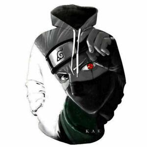 Naruto Kakashi Anime Kapuzen Sweatshirt Langarm T-Shirt Hoodie Pullover Cosplay
