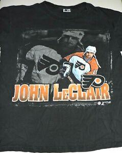 JOHN LeCLAIR Philadelphia Flyers t shirt medium Starter 1998 vintage