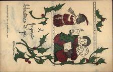 Christmas - Children Singing - Grace Harlow c1915 Postcard rpx