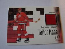 2002-03 Fleer Legacy Tailor Made Borje Salming Jersey Card Detroit (B23)